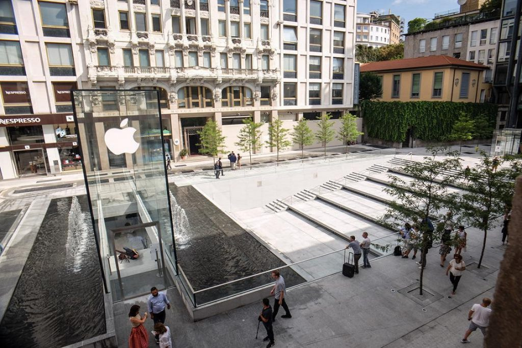 fontana dell'Apple Stor