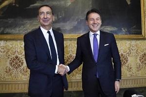 Il Premier Conte a spasso per Milano