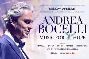 La domenica di Pasqua il Duomo ospiterà Andrea Bocelli