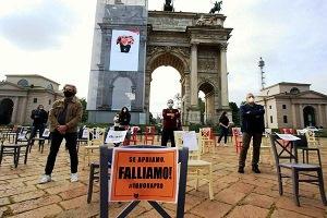 Protesta dei ristoratori sanzionata dalla Polizia, il centrodestra li difende