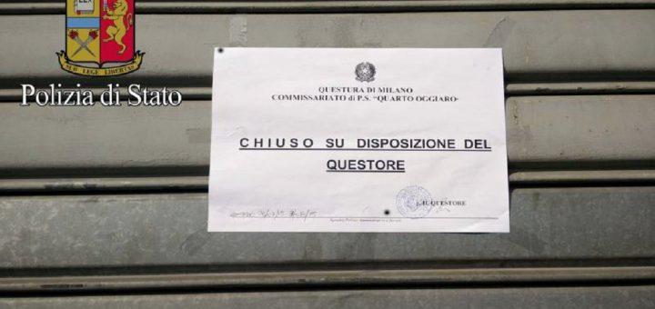 sette negozi Licenza sospesa via Tavazzano sale scommesse sala slot Sparatoria trattoria compro oro centro scommesse comasina sospesa licenza