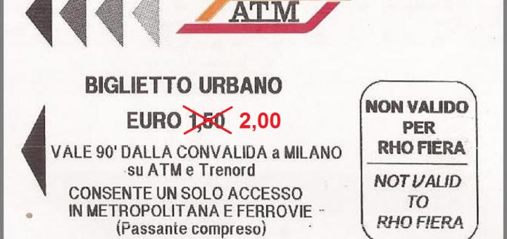 aumenti ATM aumento della tariffa urbana