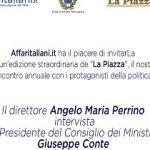 """Il 27 settembre Conte sarà ospite de """"La Piazza"""" di Angelo Perrino"""