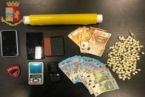 Egiziano arrestato per detenzione e spaccio di cocaina