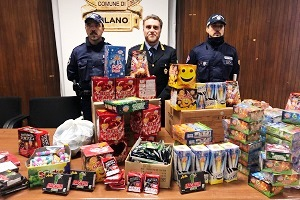 sequestrati 100 Kg di fuochi d'artificio