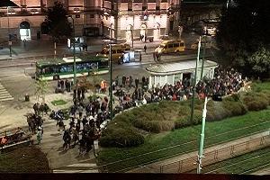 Raduno abusivo in Piazza Bottini