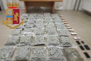 Quattro arresti e sequestrati 40 kg di droga