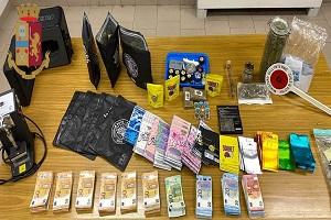 Arrestato con 7 etti di super marijuana e 16mila euro in contanti
