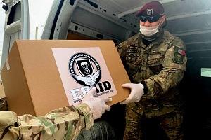 Arrivano anche a Milano gli aiuti dell'European Paratroopers Association