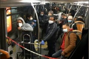 In 30 su un autobus si rifiutano di rispettare i divieti