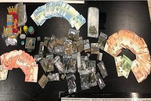 Arrestato con 3 etti di droga e 10mila euro in casa