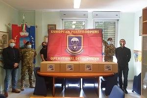 Continua la distribuzione di DPI dell'European Paratroopers Association