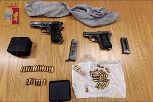 Giambellino, sequestrate armi e munizioni in una cantina