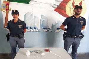 La Polizia arresta corriere per spaccio