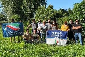 Sopralluogo di Fratelli d'Italia al Parco Vittorini