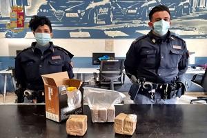 Tre arresti e sequestrati 5 chili di droga