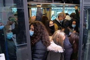 Sui mezzi 41% di passeggeri in meno