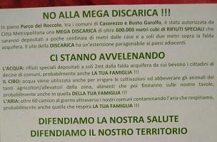 Rifiuti speciali, proteste a Casorezzo contro la città metropolitana