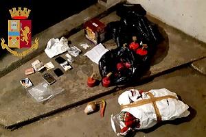 Un arresto per spaccio e detenzione di materiale pirotecnico