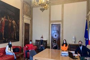 Sala riceve una delegazione di studenti
