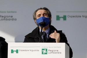 Fontana: Lombardia prima per vaccinazioni Fontana: prossimi alla zona rossa