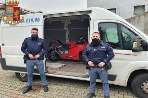 La Polizia di Stato ritrova 5 moto rubate