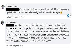 Piscina (Lega) Forza Italia è morta, Berlusconi un vecchietto e Rasia già in campagna elettorale