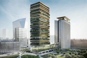 Una Torre Botanica e una serra nel ponte del nuovo Pirellino