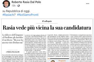 Rasia Dal Polo lancia l'hashtag #rasiachi?