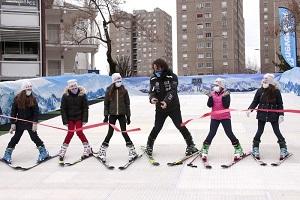 Ski in the city porta una pista di 30 metri a Milano