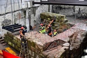 Scavi M4: scoperte antiche mura