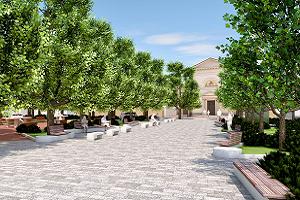 Inizia la sistemazione definitiva di piazza Angilberto II