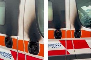 Incendiata ambulanza in via Fantoli