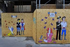 Femministe vandalizzano murale dedicato alle donne poliziotto