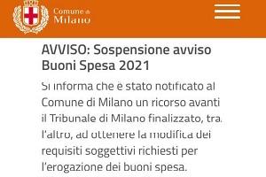 De Chirico (FI): buoni spesa sospesi senza avvisare i richiedenti