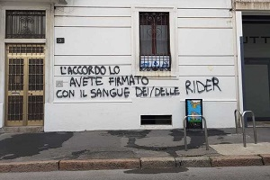 Rider: imbrattata sede UGL. Solidarietà da Lega e Fratelli d'Italia