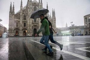 A Milano inverno caldo e piovoso