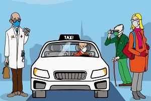 Per gli over 65 corse in taxi dedicate a vaccini e visite mediche