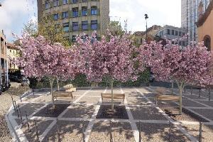 Una nuova piazza tra via Porlezza e via Giulini