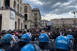 Manifestazione pro Palestina in Duomo