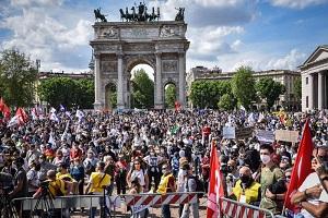 Manifestazione per la legge Zan