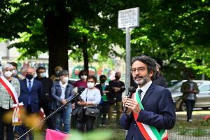 Cerimonia di commemorazione presso i Giardini Falcone e Borsellino