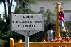 Inaugurato il Giardino dei bambini in Piazza Luigi di Savoia