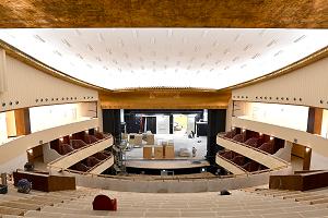 Primo sopralluogo all'interno del cantiere del Teatro Lirico