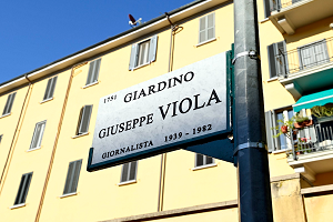 Dedicato un giardino a Beppe Viola