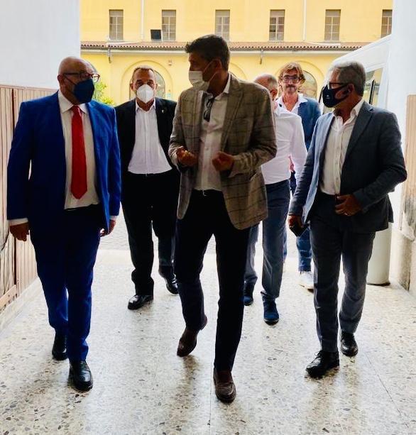 Luca Bernardo con la delegazione del SAP e quella di FdI